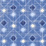 Moody Blues - Argyle on Blue Background