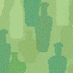 Sea Glass - Bottles on Green