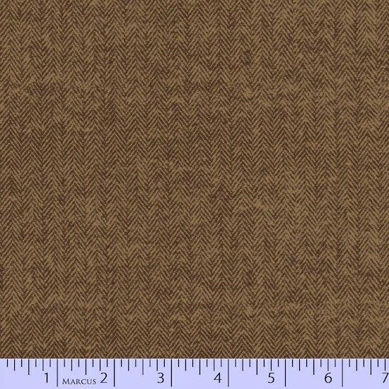 Primo Plaid Flannel - Chalk & Timber Brown Herringbone