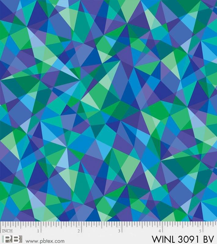 Winter Lights - Purple/Green/Blue Geometric