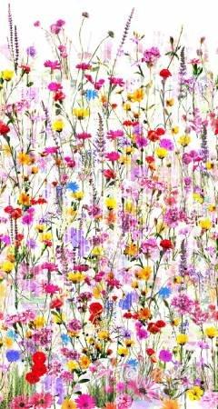 Spring Floral - 104 Wide Back