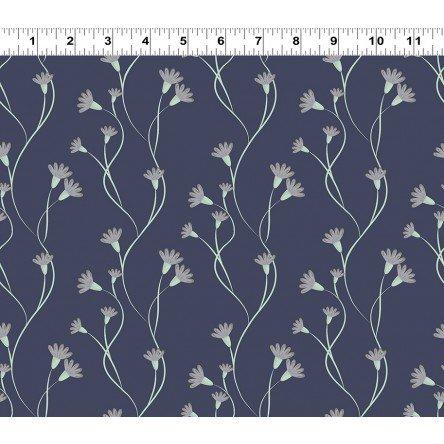 Secret Garden - Navy Blue Climbing Flowers