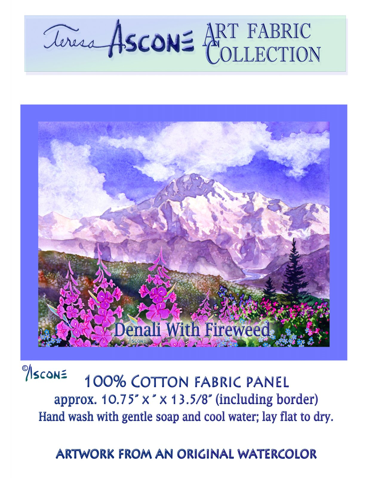 T Ascone Denali with Fireweed Panel