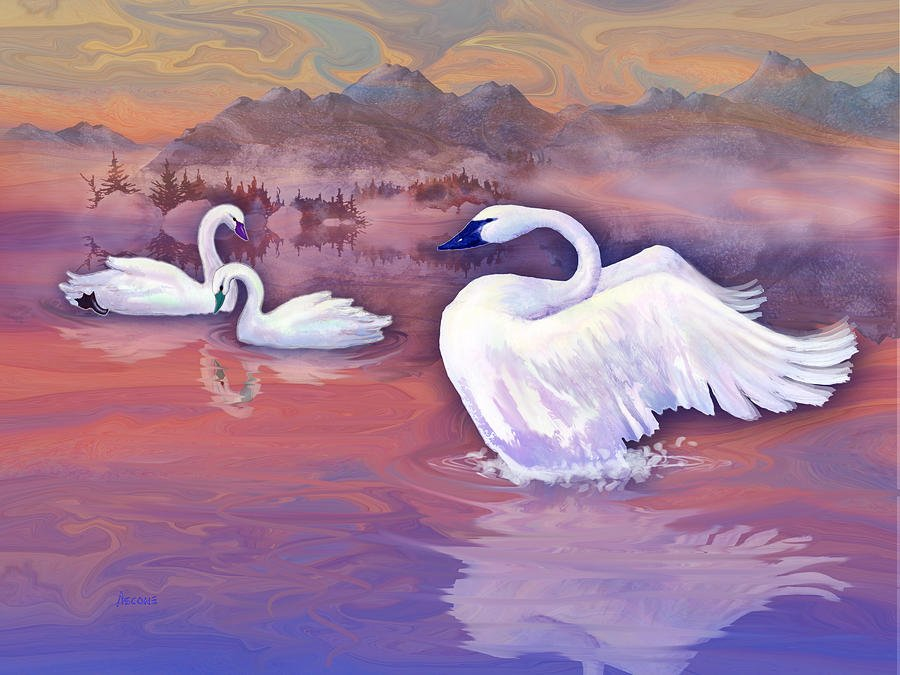 T Ascone Swans Panel