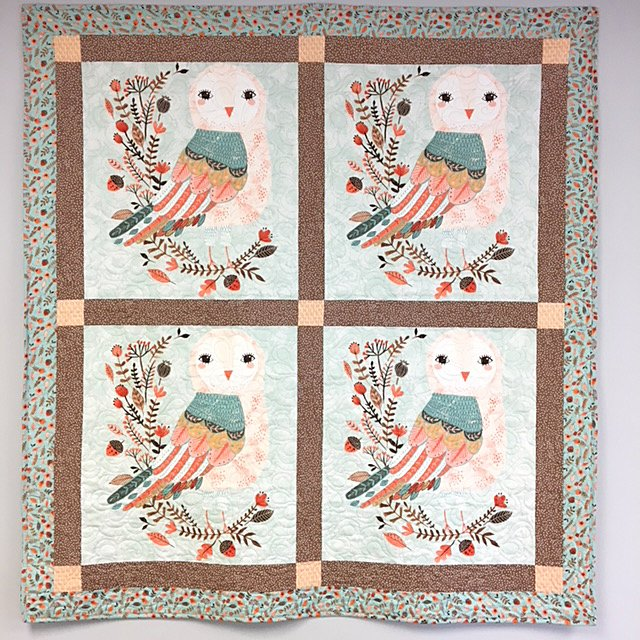 Owl Quilt Pattern & Material Kit
