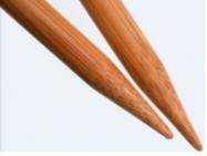 CG 9 Wood Straight Needles