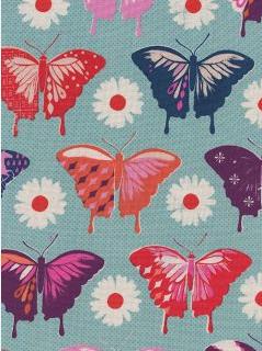 Flutter Butterflies Aqua