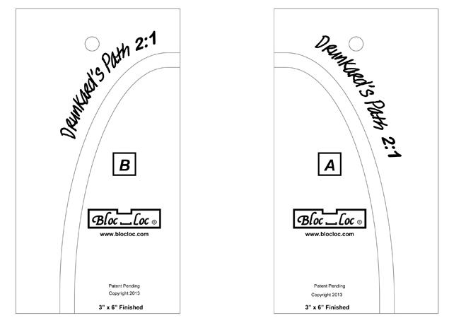 BL 3x6 Drunkards Path 2:1 ruler set