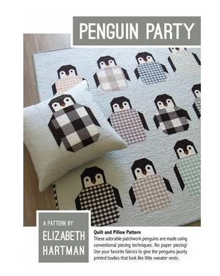 Penguin Party Quilt Pattern Elizabeth Hartman