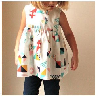 Geranium Dress Sizes 0-5T
