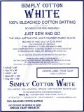 Washing instructions for Simply Cotton White Quilt Batting