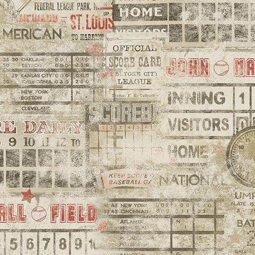 Game Time - Baseball Scoreboard Tan