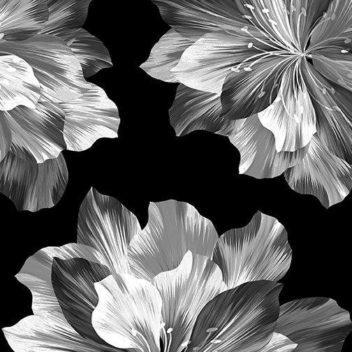 Midnight Paradise - Flowers Black