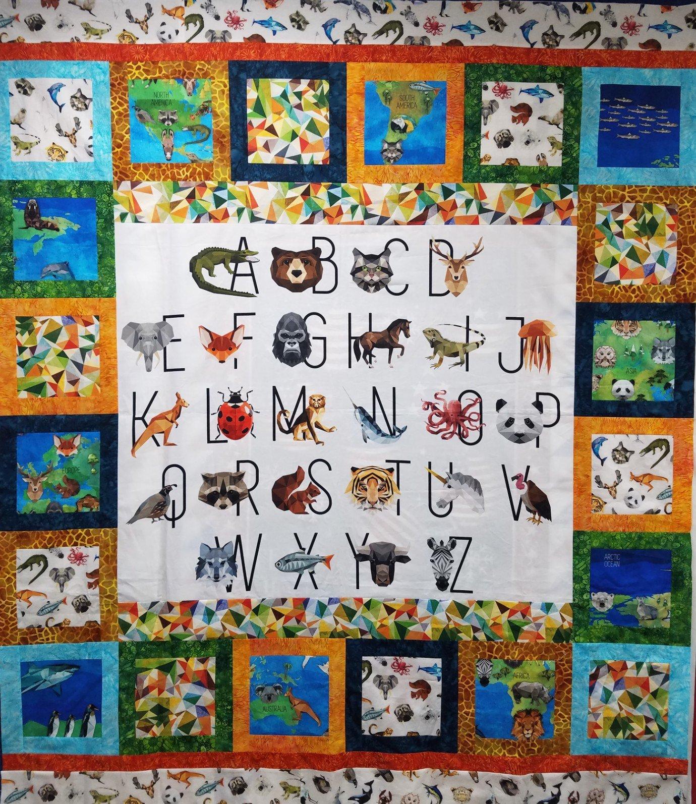 World Alphabet Squared Quilt Kit