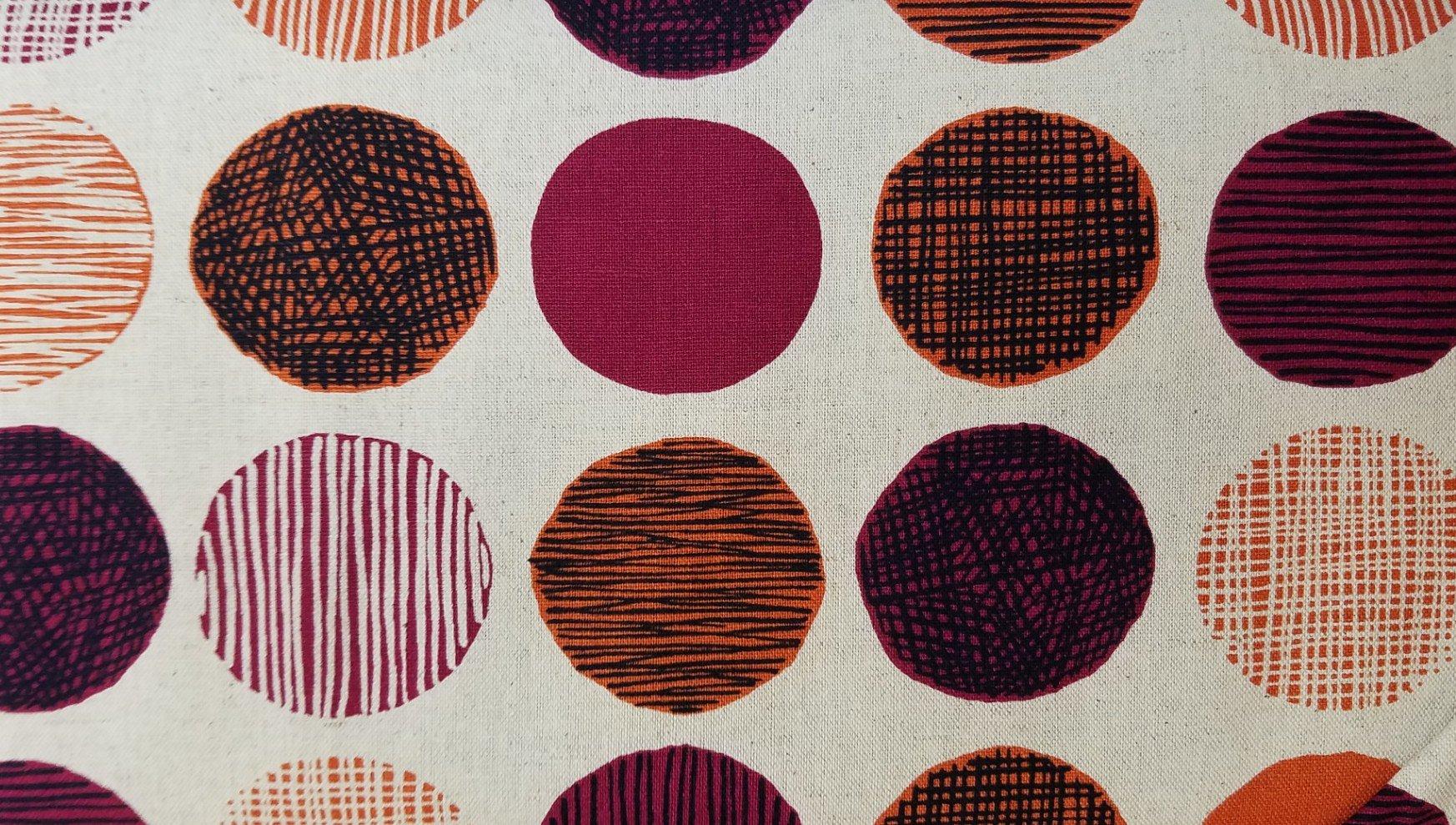 Hishiei Textiles Burgundy Circles