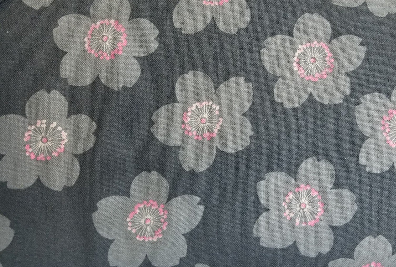 Cosmo Textiles Flowers on Gray
