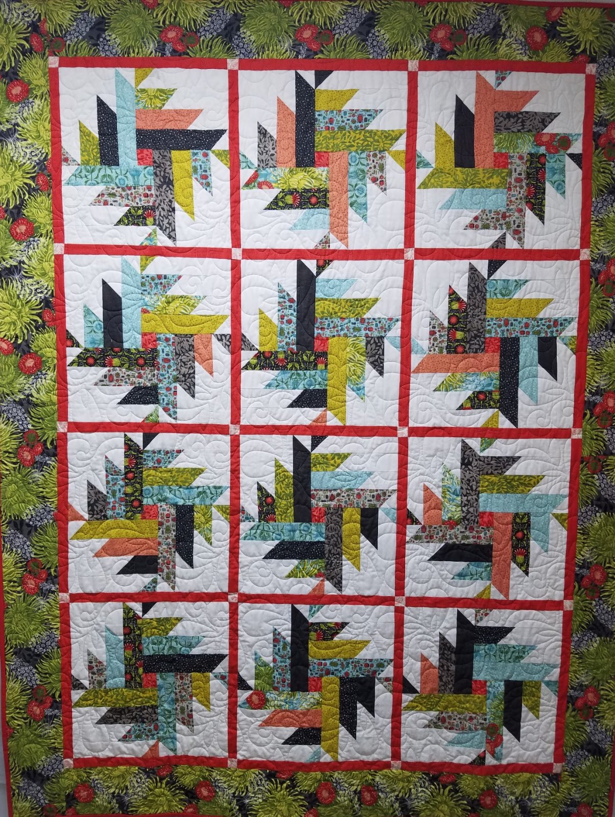 Dear Mum Dahlia Quilt Kit
