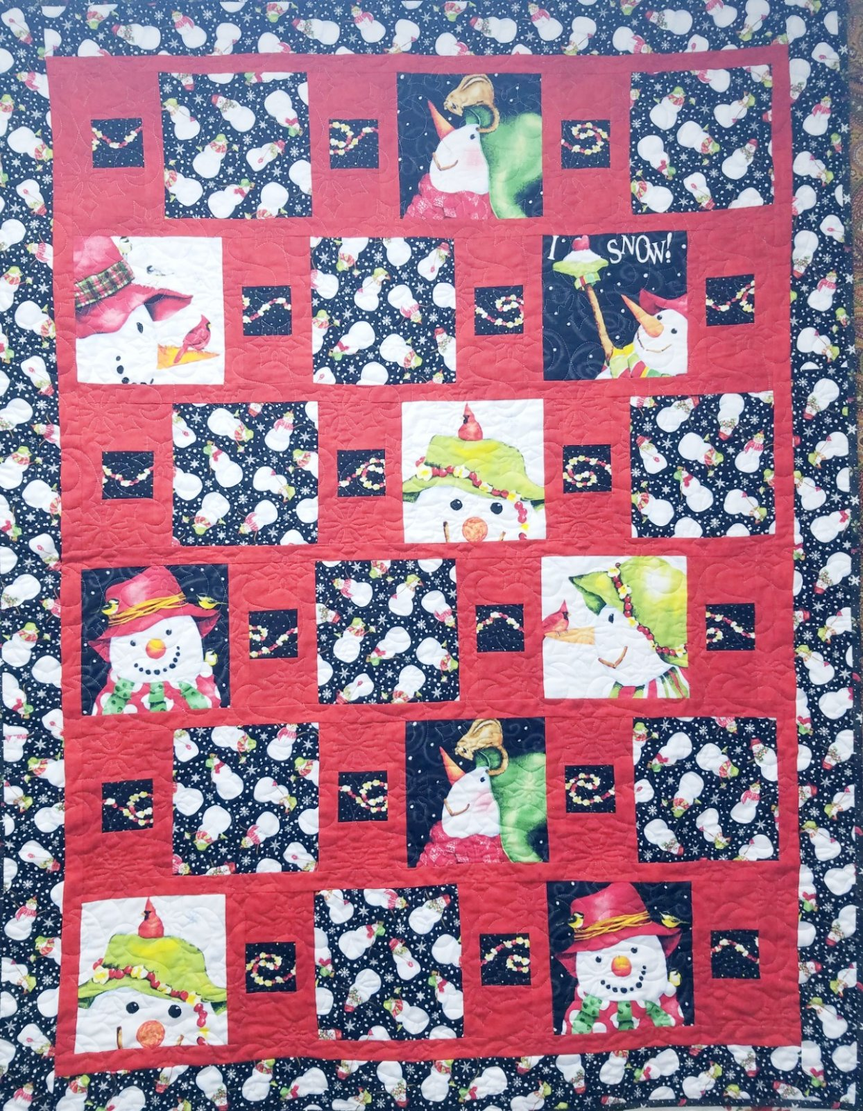 Easy Peasy Snowmen Quilt Kit w/Easy Peasy Pattern Book