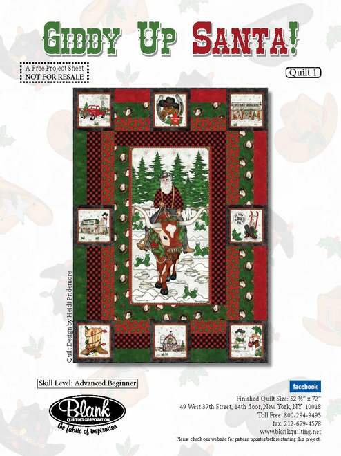 Giddy Up Santa! Quilt Kit