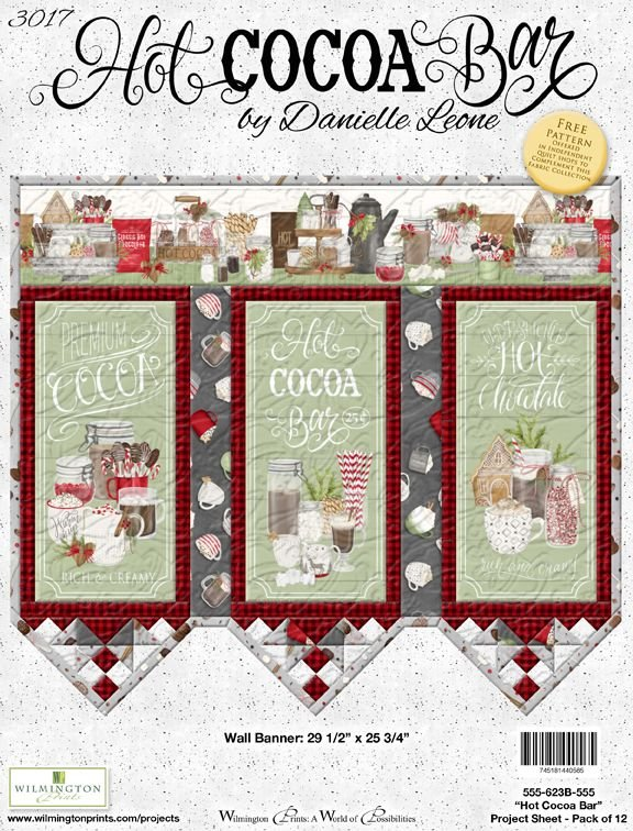 Hot Cocoa Bar Wall Banner Quilt Kit