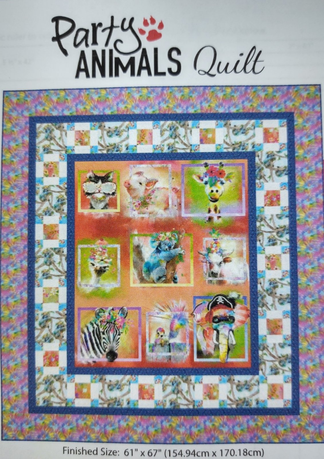Party Animals Quilt Kit