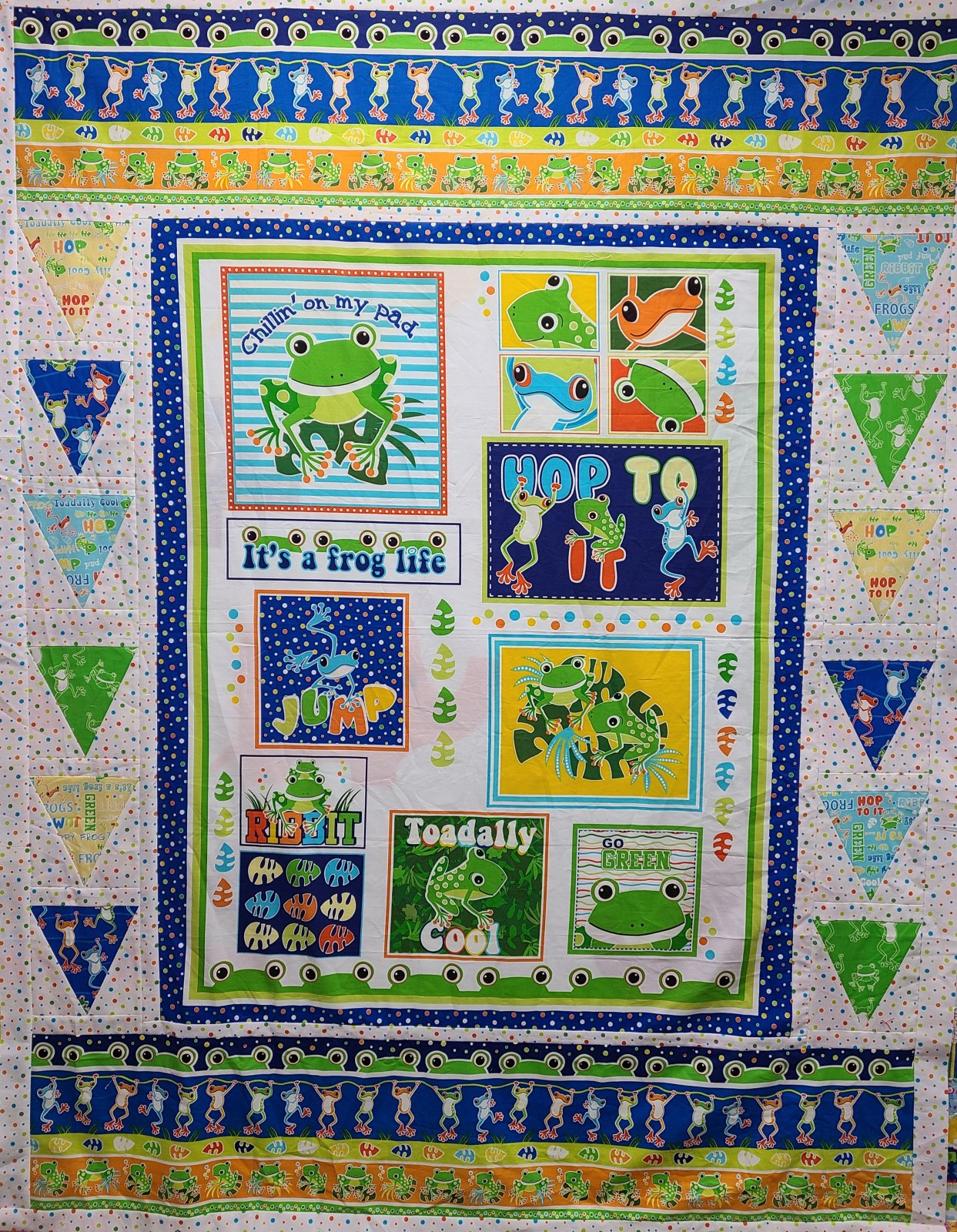 Toadally Boho Baby Quilt Kit