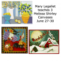 Mary Legallet teaches 3 Melissa Shirley canvases
