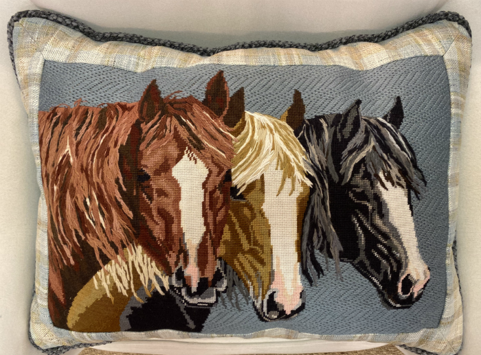 Three Blazes from Liz Goodrick Dillon - finished as a pillow