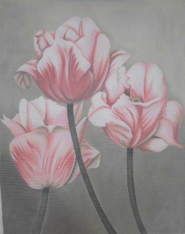 Pink & White Tulips by Liz