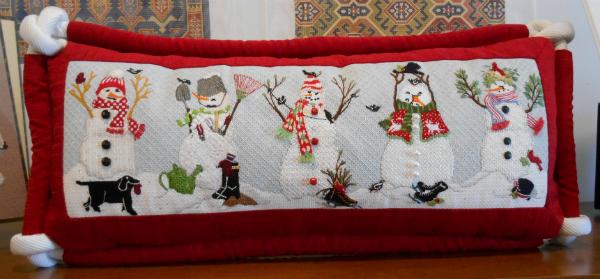 Snowmen Pillow from Melissa Shirley