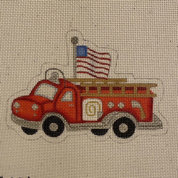 Fire Engine with flag ornament from Burnett & Bradley