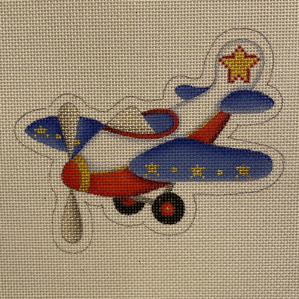 Airplane Ornament from Burnett & Bradley
