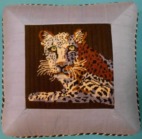 Blue Leopard Pillow