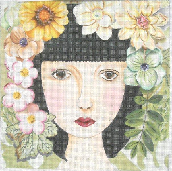 Brown Eyed Floral Girl by Lani
