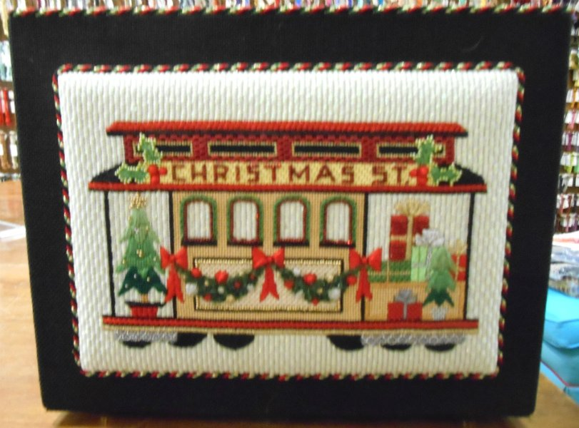 Christmas St Cable Car Card Holder from Raymond Crawford
