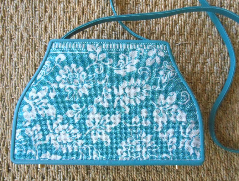 Shimmery Blue Whimsy & Grace Purse