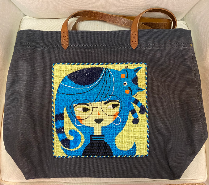 Tote Bag with Cat Head from Maggie