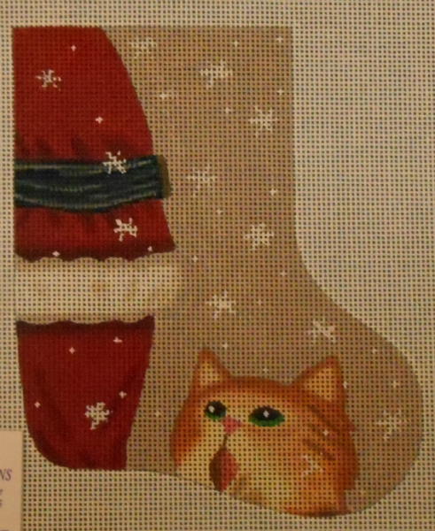 Cat Mini Stocking by Maggie