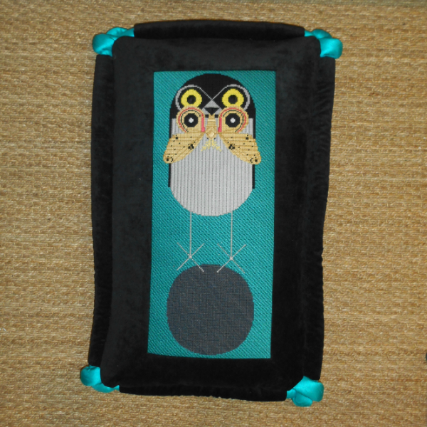 Charley Harper Owl finished Pillow