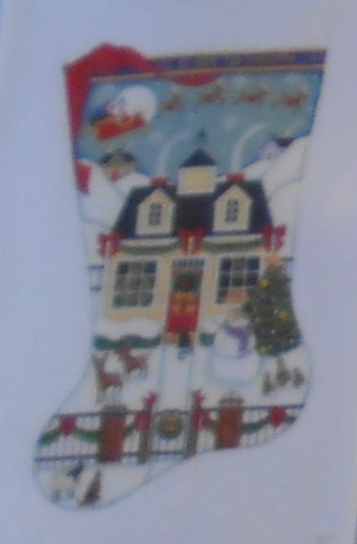 Christmas Cottage Stocking from Rebecca Wood