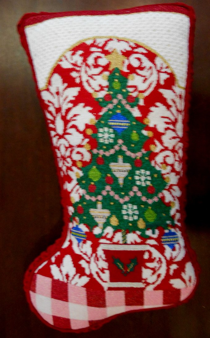 Christmas Tree Stocking Pillow