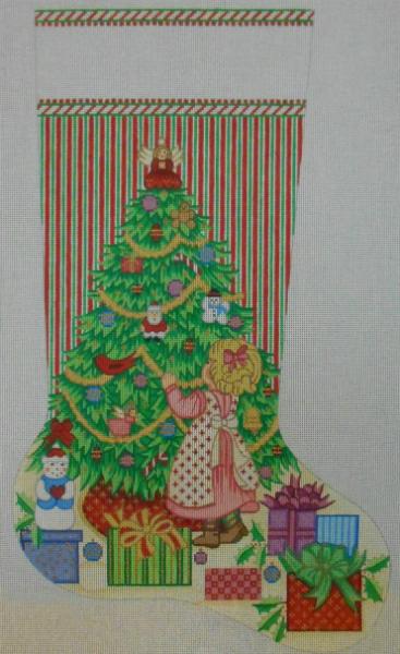 Decorating the Tree Stocking by Alexa