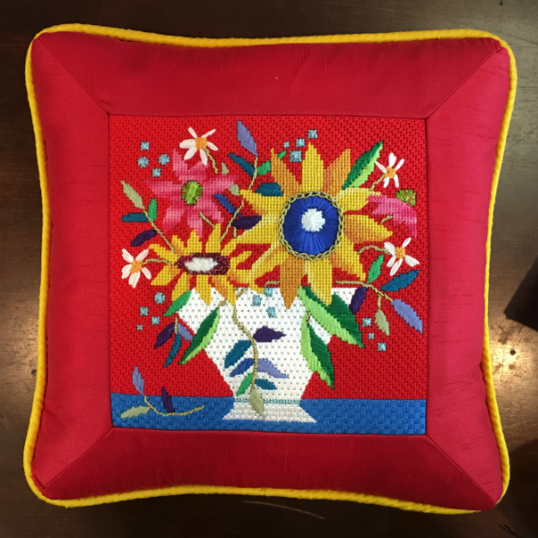 Flower Pillow - finished