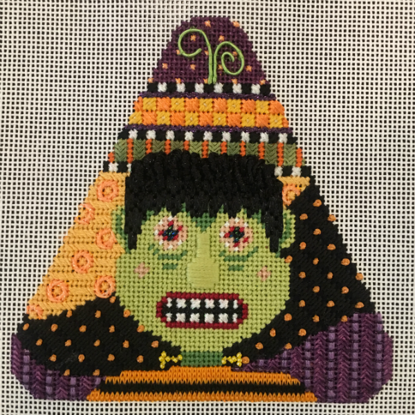 Candy Corn - Frankenstein from Needle Deeva - stitched