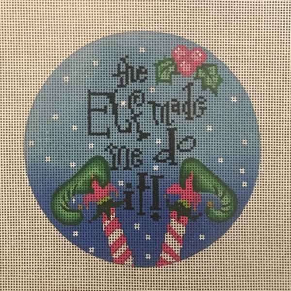 The Elf Made Me Do It ornament from Funda Scully