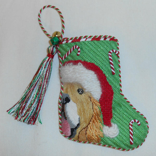 Golden Retriever Mini Stocking from Maggie - finished