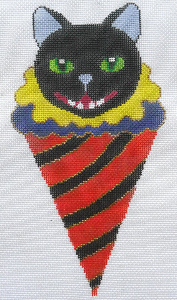 Halloween Cone Cat by Brenda Stofft