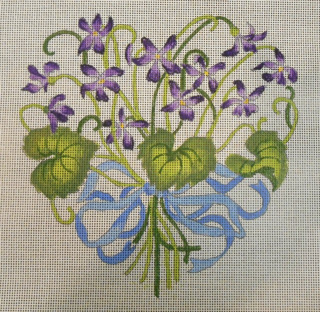 Heart of Violets from CanvasWorks