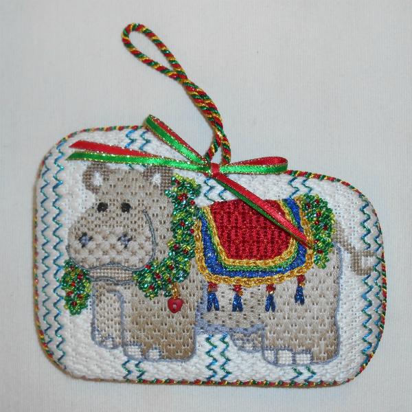Happy Hippo Ornament