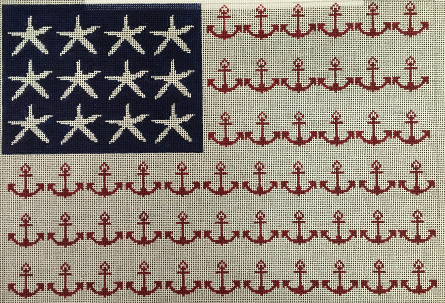 Anchors & Starfish Flag from HSN Designs